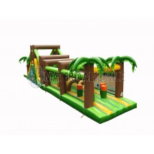 Jungle Klim Track afm. lang 8 meter, breed 4 meter en hoog 4 meter.