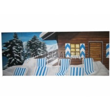 Huur winter decor blokhut