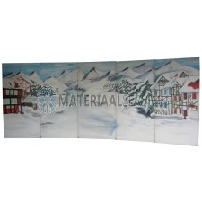Decor incl. decorsteunen winter-kerstmis decor afm. 6,25 mtr